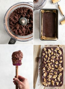 process for how to make raw walnut brownies