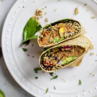 Easy Quinoa Chipotle Pollock Fish Burger Wrap