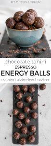 chocolate tahini energy balls pinterest image