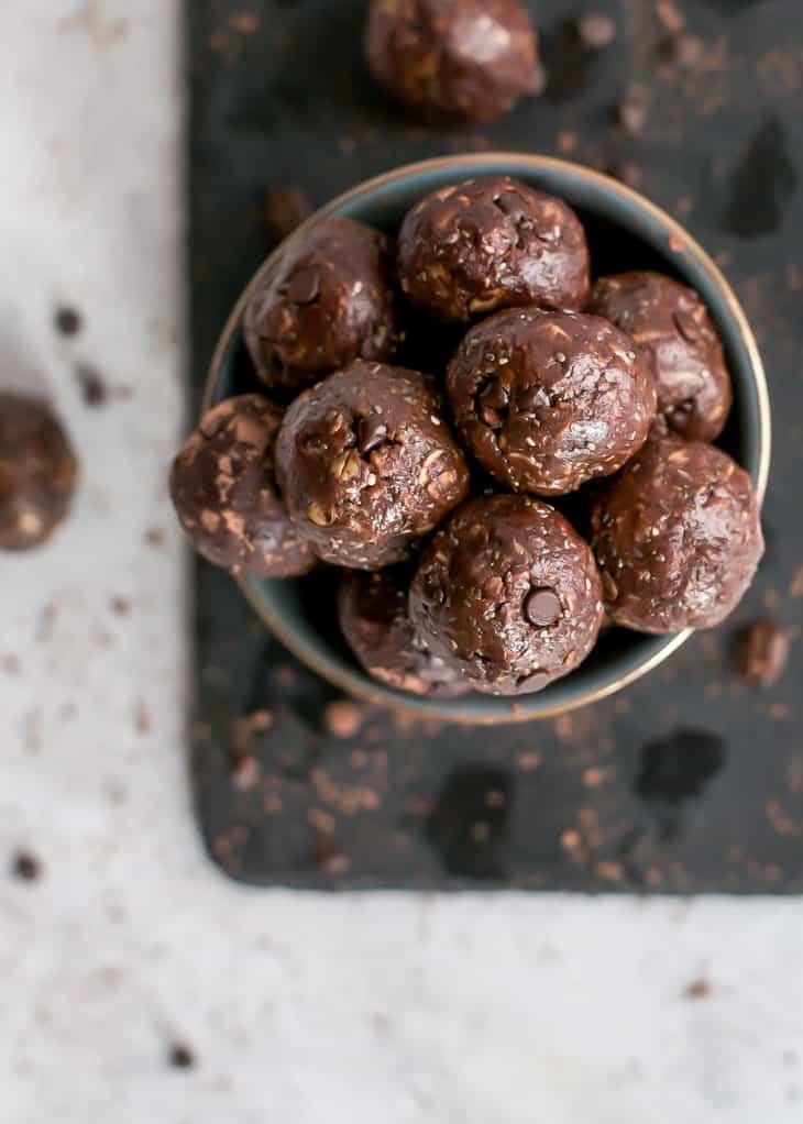 Chocolate Espresso Tahini Energy Balls Fit Mitten Kitchen