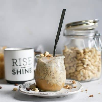 Creamy Coffee Cashew Butter Overnight Oats