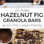 hazelnut fig granola bars pinterest image