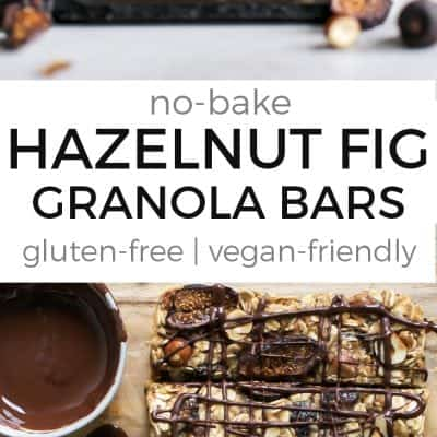 No-Bake Hazelnut Fig Granola Bars {gluten-free, vegan-friendly}