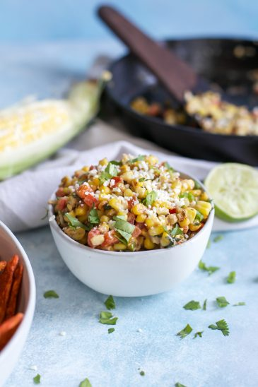 The BEST Mexican Corn Dip