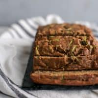 sliced loaf of zucchini bread