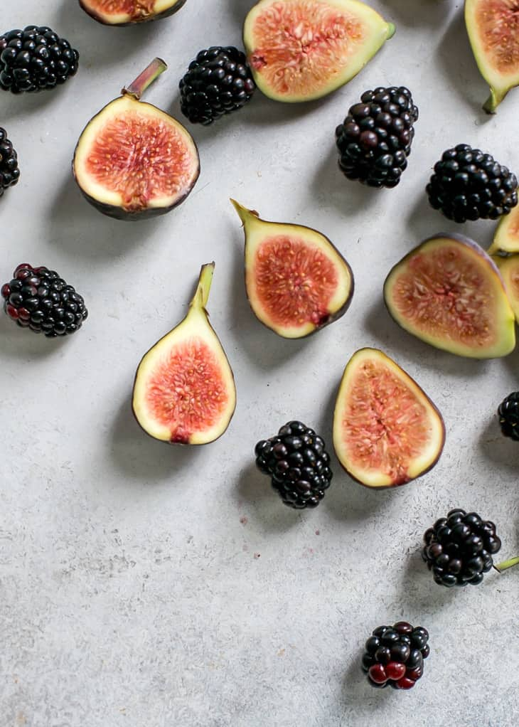 Beautiful Figs and blackberries for fig salad