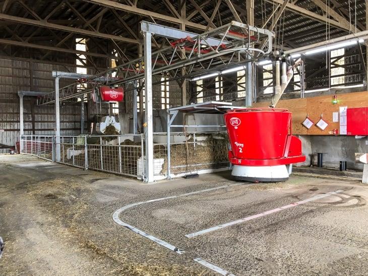 robotic feeder for dairy farm