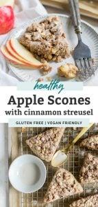 pinterest graphic for apple scones