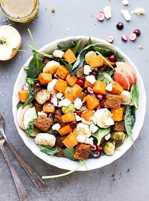 Autumn Harvest Panzanella Salad