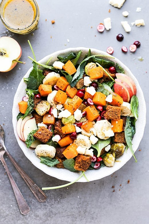 Autumn Harvest Panzanella Salad