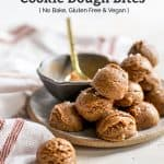 peanut butter cookie dough bites on plate