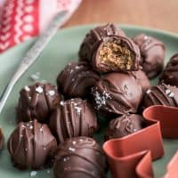pile of gingerbread truffles on plate