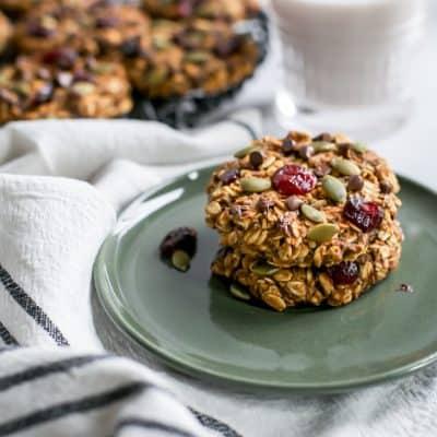 Healthy Breakfast Pumpkin Cookies