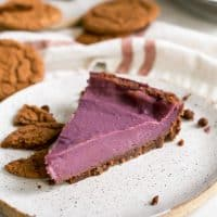 Piece of Purple Sweet Potato Pie