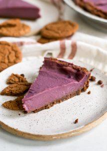 Piece of Purple Sweet Potato Pie
