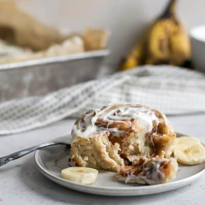 Fluffy Banana Cinnamon Rolls