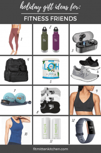 fitness gift guide graphic