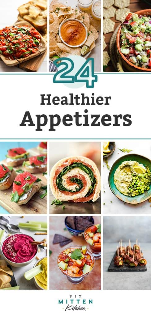A roundup of 24 healthier appetizers