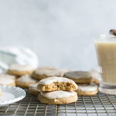 Whole Grain Eggnog Cookies {with Almondmilk Nog}