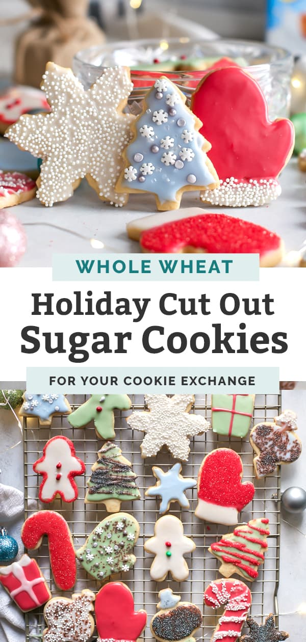 holiday sugar cookies pinterest graphic