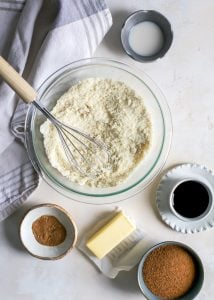 ingredients for paleo vegan molasses cookies