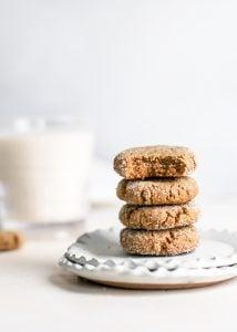 stack of vegan molasses cookies
