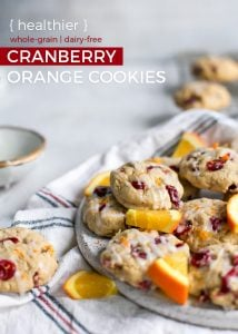 plate of cranberry orange cookies pinterest