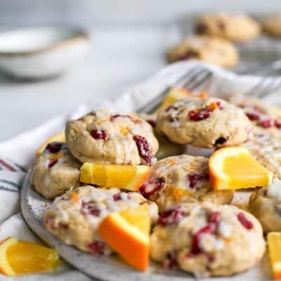 Healthier Cranberry Orange Cookies {gluten-free, dairy-free}