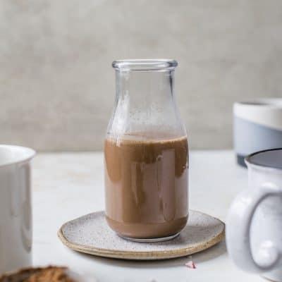 Dairy-Free Peppermint Mocha Coffee Creamer [vegan]