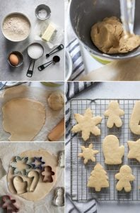 process to make cut out sugar cookies