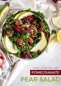 pomegranate pear salad pin