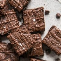 cassava flour brownies with chocolate drizzle