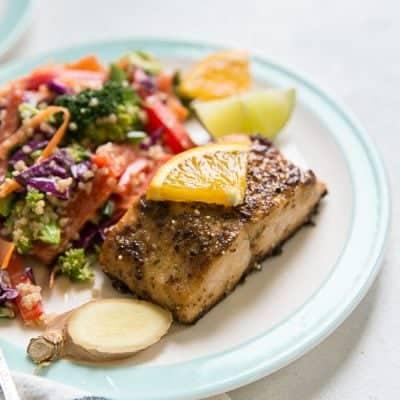 Citrus Ginger Salmon & Asian Quinoa Salad