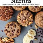 paleo banana muffins with toppings