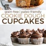 cookie dough cupcakes pinterest graphic