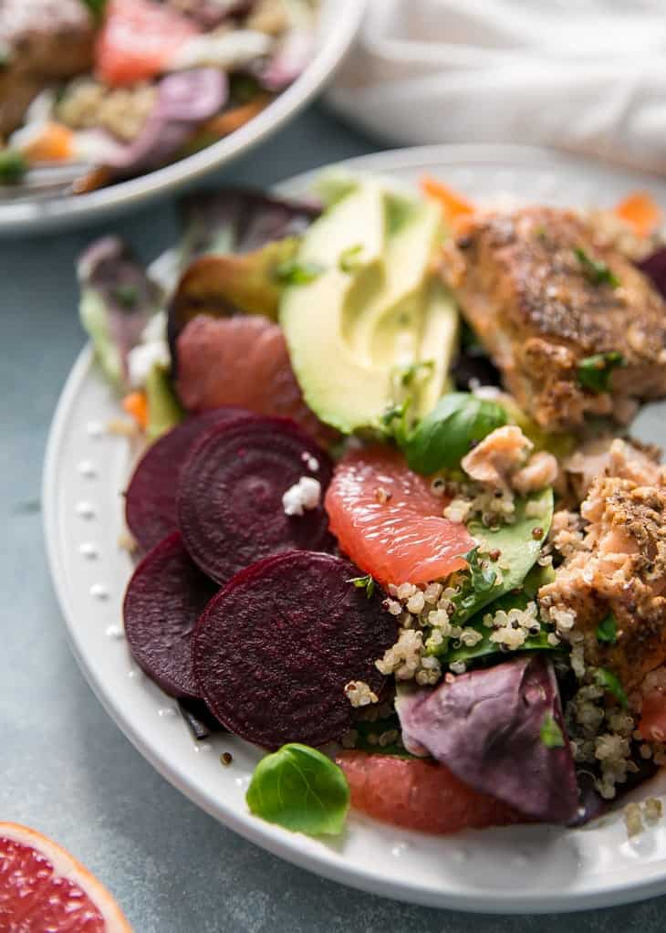 grapefruit beets and salmon salad