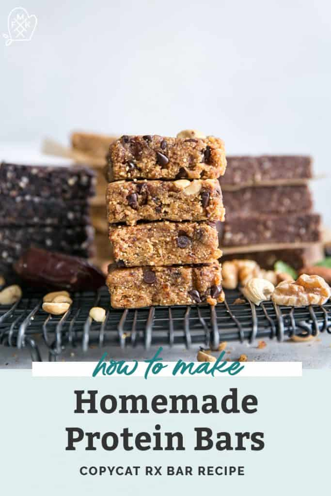 stack of homemade protein bars on cooling rack pinterest