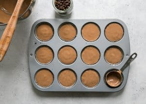 how to make mini cheesecake in muffin pan