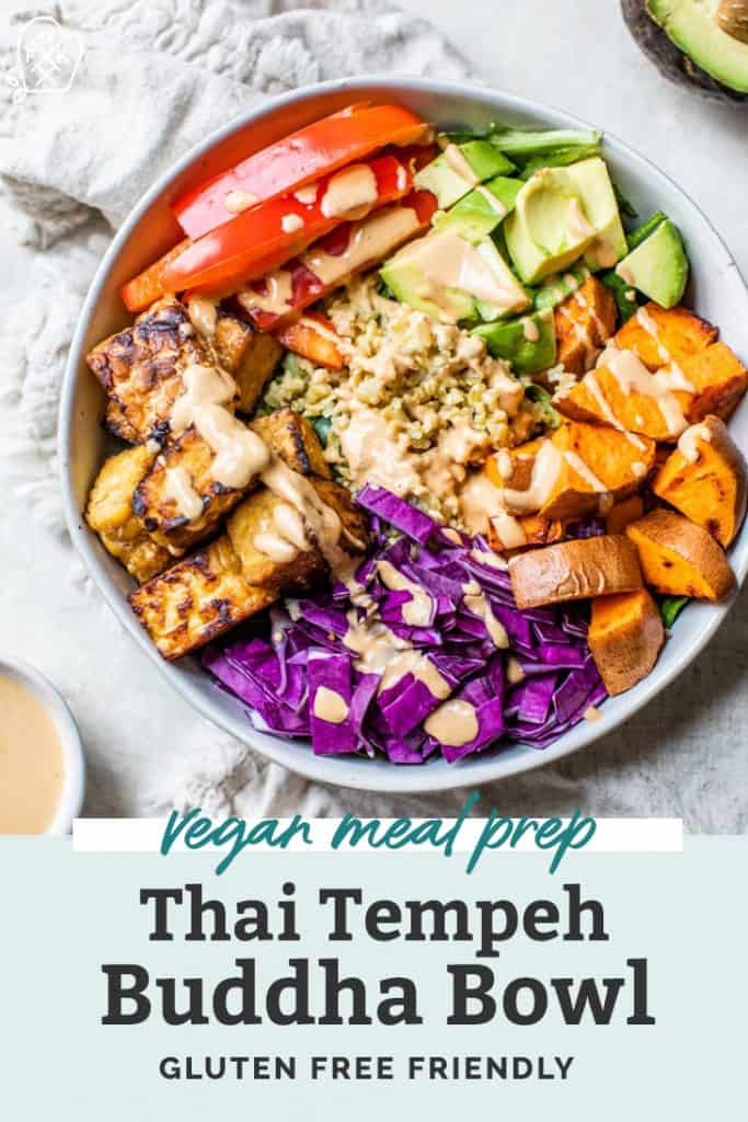 tempeh buddha bowl meal prep pinterest