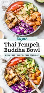 thai tempeh buddha bowl pin
