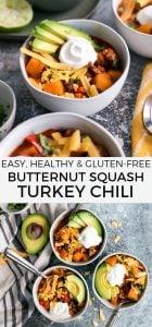 butternut squash turkey chili pinterest