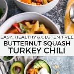 butternut squash turkey chili pinterest