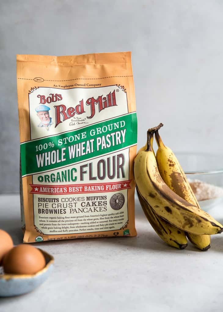 Bob's Red Mill whole wheat pastry flour for banana muffins