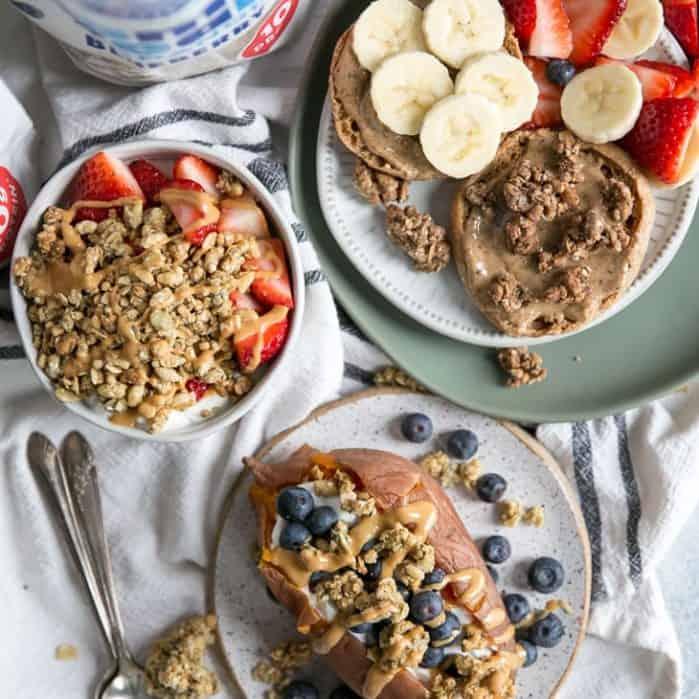 healthy breakfast recipes using granonla