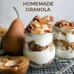 pear parfaits in weck jars pinterest
