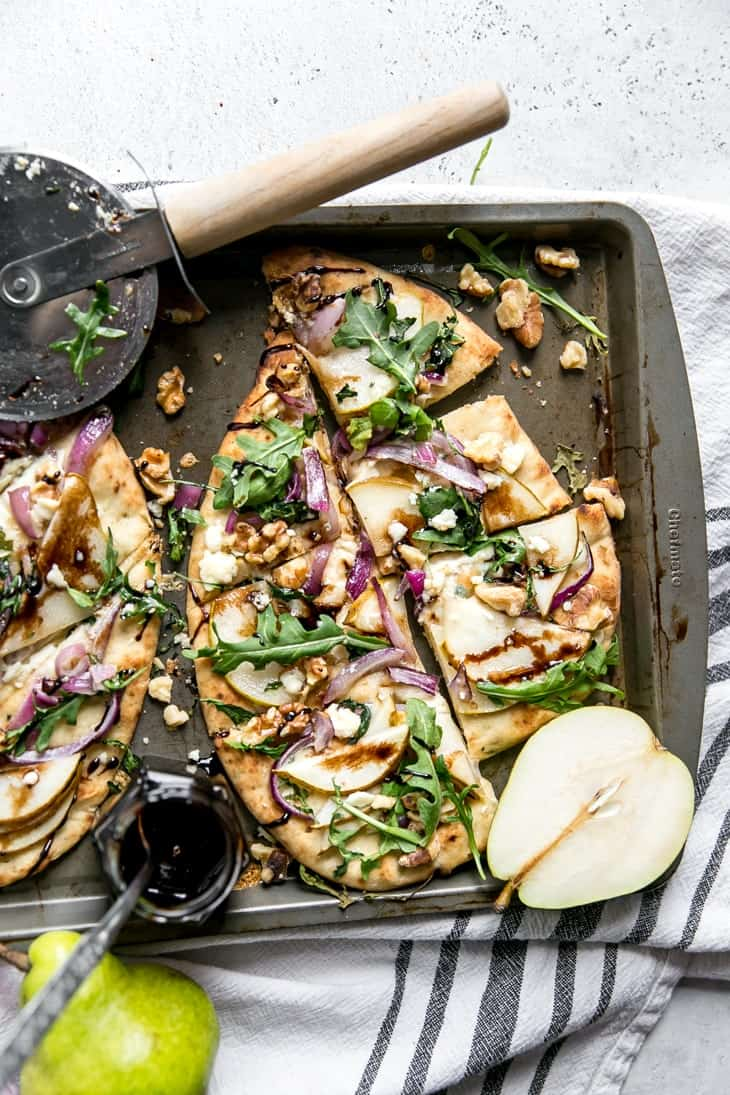 Walnut Pear Flatbread Quick And Easy Fit Mitten Kitchen