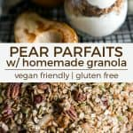 pear parfaits pinterest
