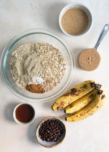 ingredients for banana breakfast cookies