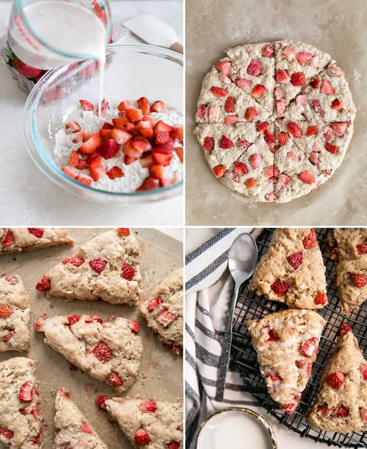 how to make strawberry scones