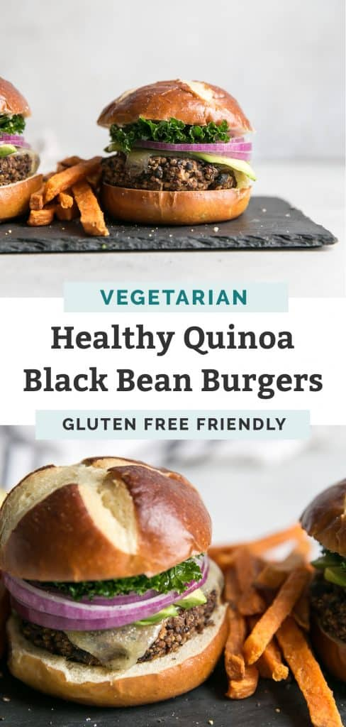quinoa black bean burgers pinterest